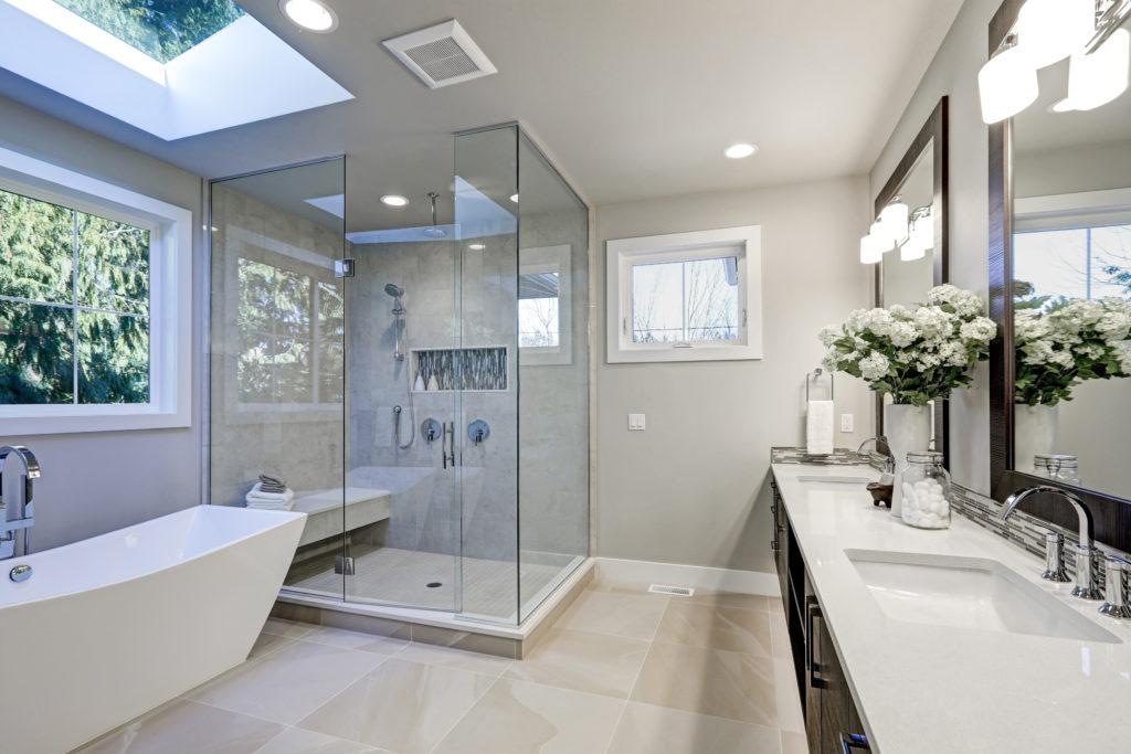 szklane kabiny prysznicowe, szklo w lazience, szklo hartowane Przeźmierowo, Duszniki, Wilczyna